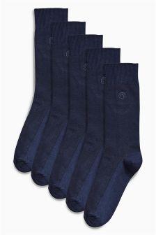 Texture N Logo Socks Five Pack