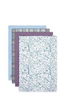 Set Of 4 Plum Design Tea Towels