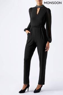 Monsoon Black Cara Jumpsuit