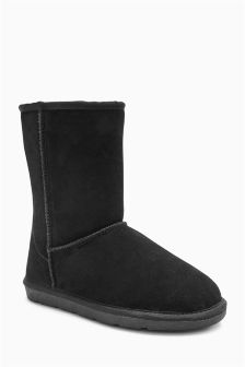 Borg Lined Suede Boots