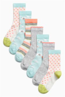 Socks Seven Pack (Older Girls)