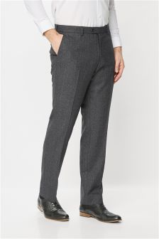 Textured Regular Fit Suit: Trousers