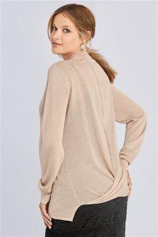 Maternity Sparkle Wrap Sweater