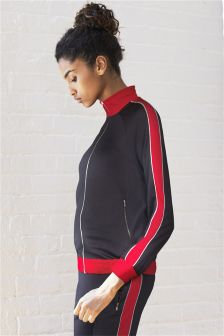 Panelled Zip Through Sweat