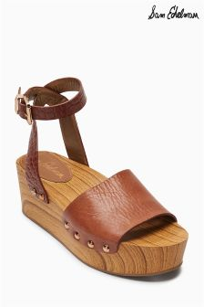 Sam Edelman Brown Stack Heel