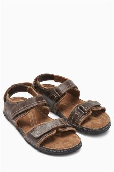 Brown Leather Sports Sandal