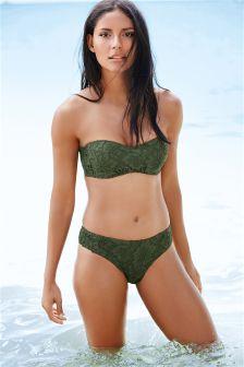Lace Bandeau Bikini Top