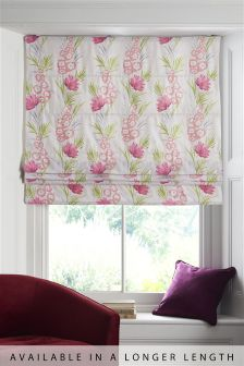 Summer Bright Floral Roman Blind