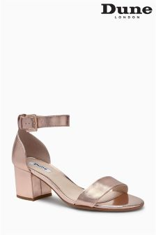 Dune Rose Gold Jaygo Two Part Block Heel Sandal