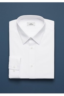 Cotton Curved Forward Point Collar Shirt