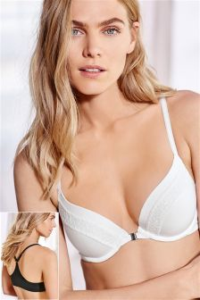 Cara Push Up Plunge Racer Back Bras Two Pack