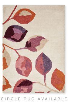 Wool Autumnal Leaf Rug