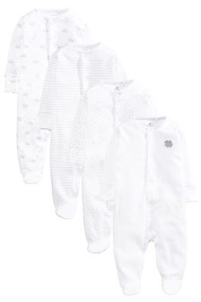 Delicate Sheep Sleepsuits Four Pack (0mths-2yrs)