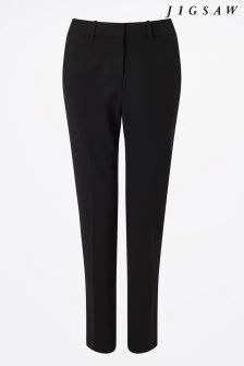 Jigsaw Black Paris Slim Trouser