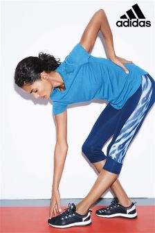 adidas Blue Tech Fit Printed Capri