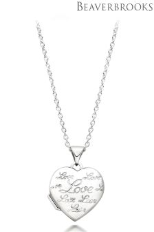 Beaverbrooks Silver Love Heart Locket