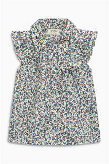 Ditsy Ruffle Shirt (3-16yrs)