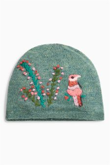 Embroidered Hat (Younger Girls)