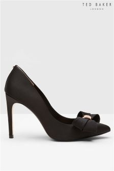 Ted Baker Black Rose Gold Bow Court Shoe