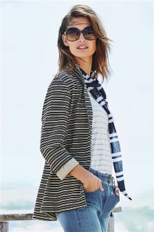 Black/Ecru Striped Blazer