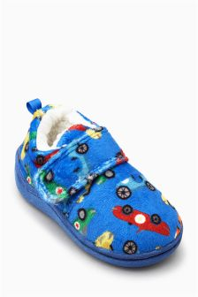 Car Print Slippers (Younger Boys)