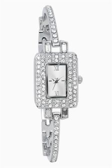 Rectangle Small Jewelled Watch