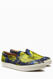 Brocade Floral Skater Shoes