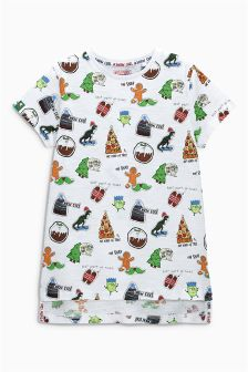 All-Over Print Christmas T-Shirt (3-16yrs)