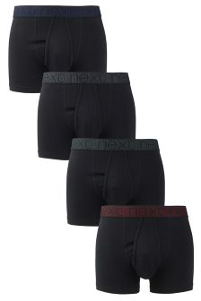 Geometric Waistband A-Fronts Four Pack