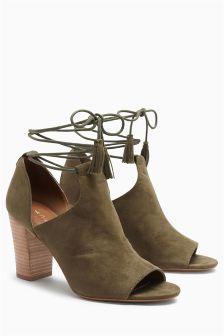 Ankle Wrap Shoe Boots