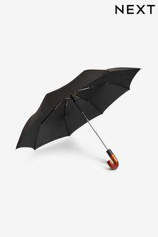Black Wooden Handle Umbrella
