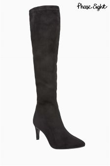 Phase Eight Black Hannah Stretch Boot
