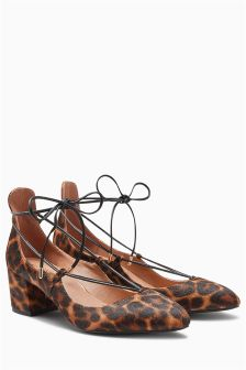 Lace Up Dolly Shoes