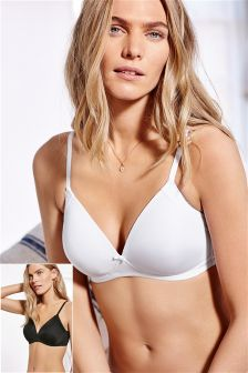 Daisy Lightly Padded Non Wire Bra Two Pack