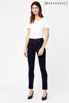 Warehouse Indigo High Rise Skinny Cut Jean