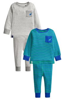 Stripe Pyjamas Two Pack (9mths-8yrs)