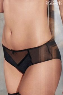 Figleaves Black Velvet Kiss Brazilian Brief