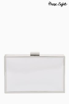 Phase Eight Izzy Metallic Leather Clutch