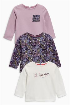 Embroidered Sequin Tops Three Pack (3mths-6yrs)