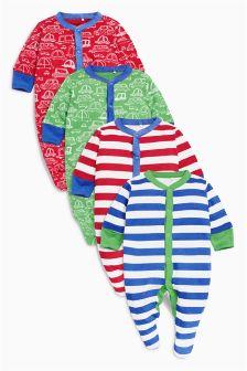 Car Sleepsuits Four Pack (0mths-2yrs)