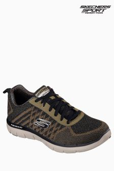 Skechers Navy Flex Advantage Golden Print