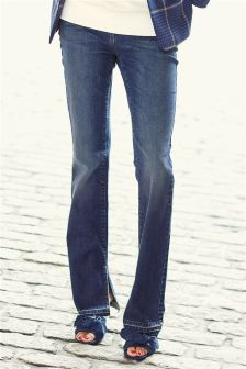 Side Split Hem Jeans