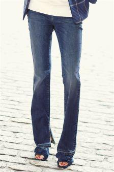 Side Split Hem Jeans