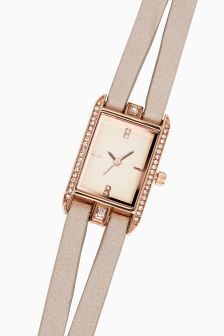 Rectangle Split Strap Watch