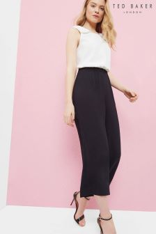 Ted Baker White/Black Eloweez Bow Jumpsuit