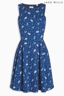 Jack Wills Dark Micro Tropical Raddery Dress