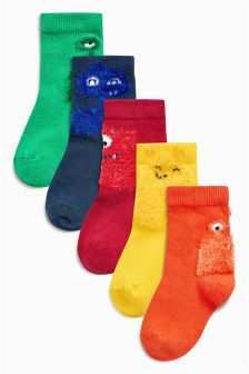 Bright Monster Socks Five Pack (Younger Boys)