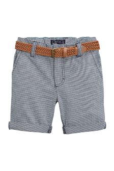 Gingham Belted Chino Shorts (3-16yrs)