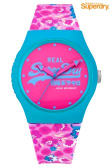 Superdry Urban Floral Pink Watch