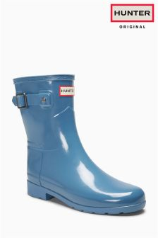 Hunter Original Air Force Blue Refined Gloss Short Welly